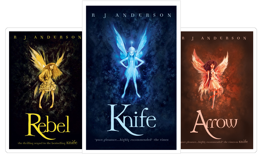 Knife, Rebel and Arrow - Faery Rebels Book Covers